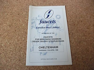 Cheltenham Race Card ~ April 11Th, 1996 ~ The Silver Trophy Steeple Chase