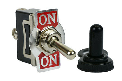 TEMCo 20A 125V ON-ON SPDT 3 Terminal Toggle Switch With Waterproof Boot Cap