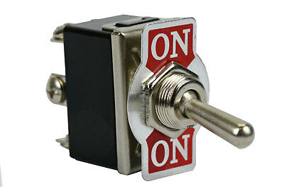 TEMCo Heavy Duty 20A 125V ON-ON DPDT 6 Terminal Toggle Switch