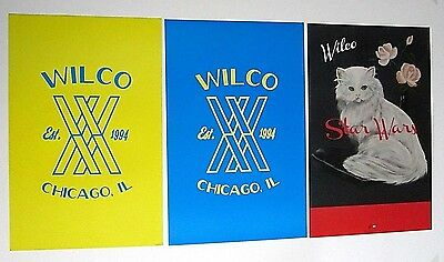WILCO Lot of 3 Promo Posters Star Wars and Chicago IL Est 1994