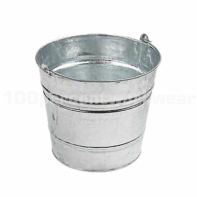 3 x 10L Heavy Duty Galvanised Bucket Water Carrier Ash Coal Animal Feed Sand New