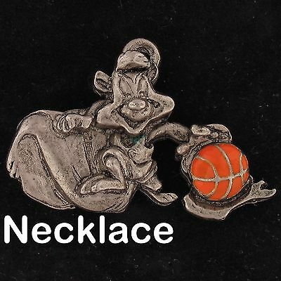 NECKLACE Pepe Le Pew WARNER BROS Looney Tunes WB STORE BASKETBALL SPACE JAM 4266