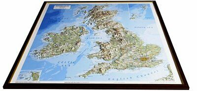 British Isles Raised Relief Map: Unframed (Raised Relief Maps Series) New Map Bo
