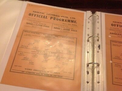 Football Programme Arsenal V West Bromwich Albion 1945/46
