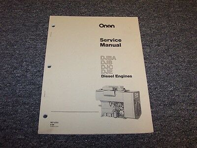 Onan DJBA DJB DJC DJE Industrial Diesel Engine Shop Service Repair Manual Book