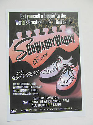Showaddywaddy In Concert, Whitby 2017 Concert Flyer.