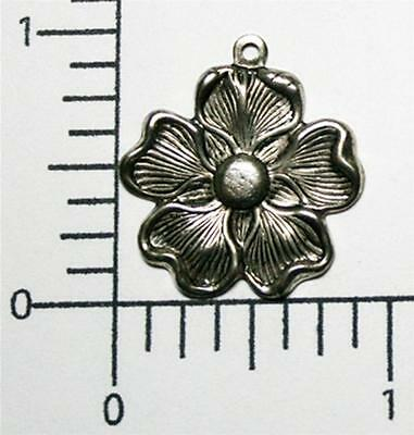 30534      12 Pc Matte Silver Oxidized Vict. Dogwood Charm Jewelry Finding  SALE
