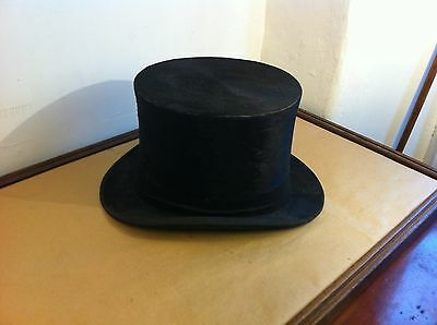 Lovely Good Size Best Quality London Vintage Silk Top Hat - Size 7