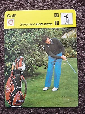 GOLF - Seve BALLESTEROS / MASTERS & OPEN CHAMPION - Sportscaster Photo Fact Card