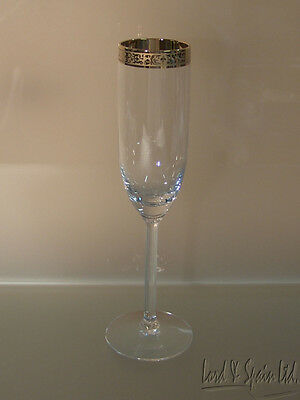 """Lenox AUTUMN Gold Encrusted Wide Band 9"""" Champagne Flute Glass-More Available!"""