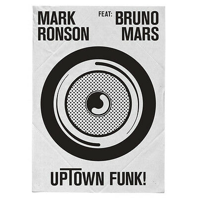 "Mark Ronson Feat Bruno Mars "" Uptown Funk "" 12"" Promo ** Coloured Vinyl **"