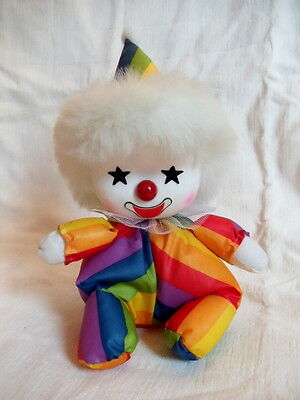 Vintage Rainbow Clown Musical Wind up doll by Albert E. Price