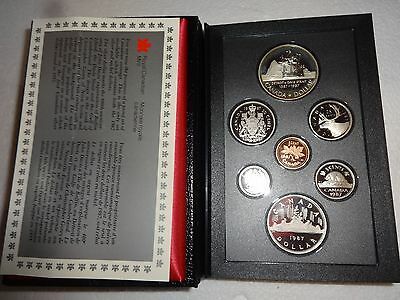 Royal Canadian Mint 1987 Proof Set With Silver Dollar