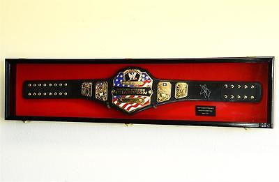 Wwe Wwf Wrestling Championship Adult Size Belt Display Case Frame Cabinet Box