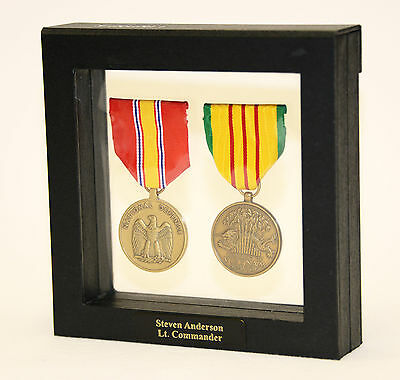 1-2 Military Medals Pins Patches Badge Insignia Display Case Box Frame Shadowbox