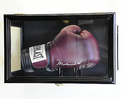 Clear Viewing Boxing Glove Display Case Cabinet Wall Rack / Free Standing 98% UV