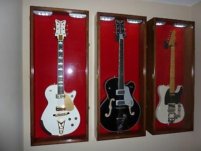 Gretsch Guitar Display Case Cabinet Rack Holder + LED