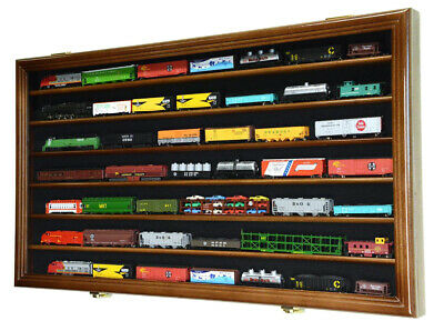 N Scale Train Display Case Cabinet for N or Z Gauge Scale Trains Set - Lockable