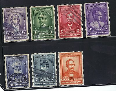 Dominican Republic 6 used and 1 MNG stamps