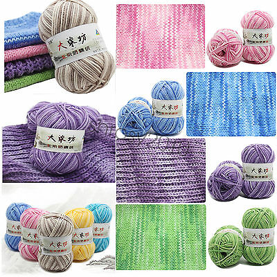 Chic 23 Colors Super Soft Smooth Cotton Knitting Yarn Baby Natural Wool Yarn