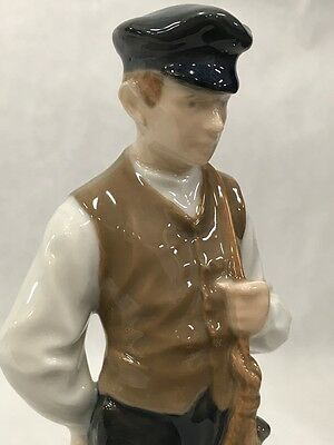 Vintage Royal Copenhagen Shepherd Boy 620 Denmark Tall Figurine Statue marked
