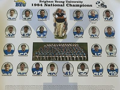 Brigham Young University 1984 National Champions Team Lithograph (Unsigned)