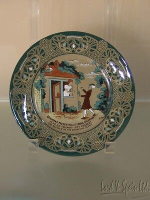 Buffalo Pottery Emerald Deldare Dr Syntax Presenting A Floral Offering Plate
