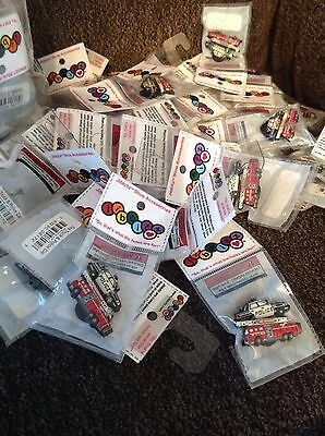 Authentic Crocs Jibbitz Shoe Charms Police Car & Fire Truck 1 Package 2 Charms