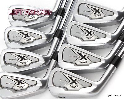 Callaway X Forged 3-Pw Irons Project X Flighted Regular +New Grips -Lh #d5599