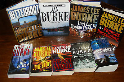 Nice lot of Mystery Thriller by JAMES LEE BURKE   free s/h CAN