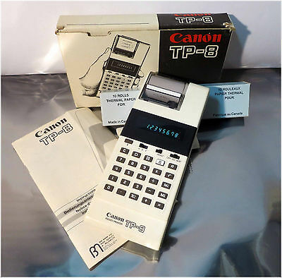 Canon TP-8 Pocket Calculator Printer with 7 Rolls of Paper, Tested!