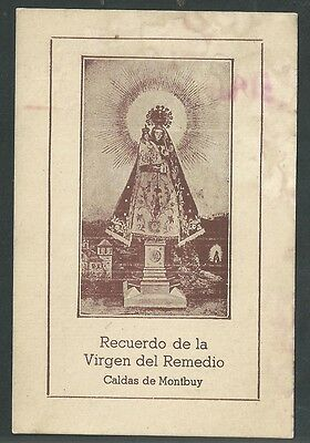 Estampa antigua Virgen del Remedio andachtsbild santino holy card santini