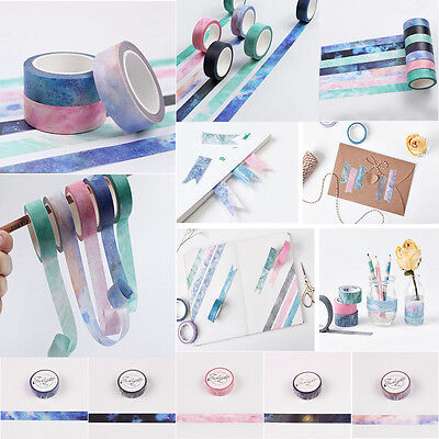 Galaxy Washi Paper Sticky Masking Tape Scrapbooking Masking Craft Tape Decor Jew