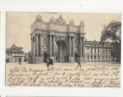 Gruss Aus Potsdam Brandenburger Thor 1902 U/B Postcard Germany 072b