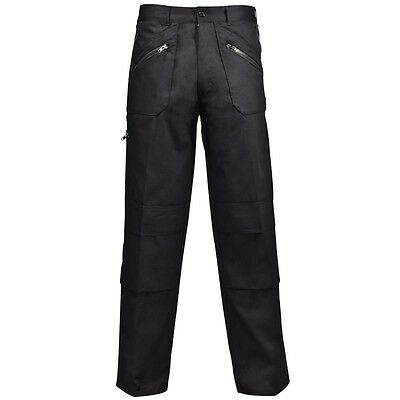 Supertouch Mens Polycotton Work Action Trousers Pants Knee Pad Pocket Tall Short