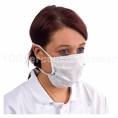 1000 Supertouch Non Woven Tie Back Disposable Face Mask Food Hygiene Medical Lab