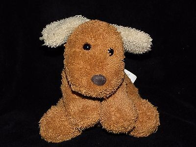 Chad Valley Puppy Dog Soft Toy Brown Beige Ears Comforter Doudou