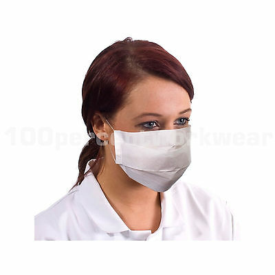 Clinical Supertouch Face Mask Processing White 5000 Food Hygiene Paper Handling
