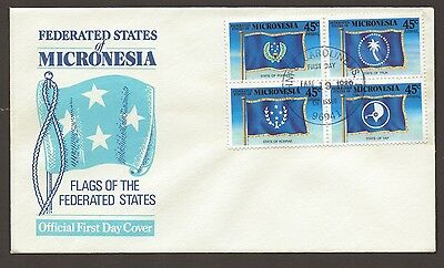1989 MICRONESIA Federated States FLAGS Official FDC