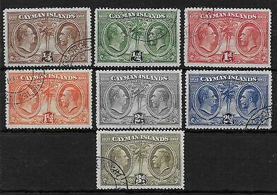 CAYMAN ISLANDS  SG 84/90  1932 CENTENARY SET TO 3d   VERY FINE USED