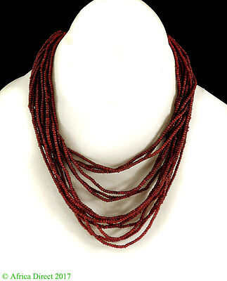 Whitehearts Necklace 14 Strands Beads Ivory Coast Africa Old