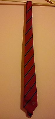 St Helens Rugby League Football Club Official Red Stripe Club Silk Tie Saints Vg
