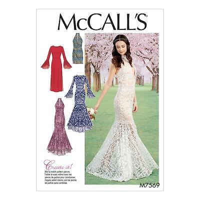 McCALL'S SEWING PATTERN MISSES' COLUMN AND MERMAID-STYLE DRESSES 6 - 22 M7569