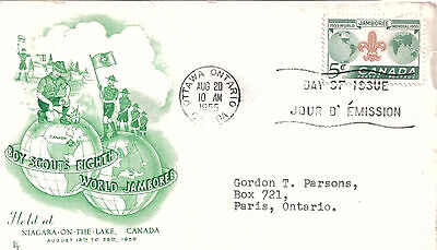CANADA - 1955 Illustrated First Day Cover Scouts Eighth World Jamboree