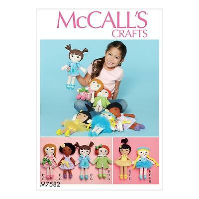 McCALL'S SEWING PATTERN CRAFTS CLOTH DOLL AND CLOTHES M7582