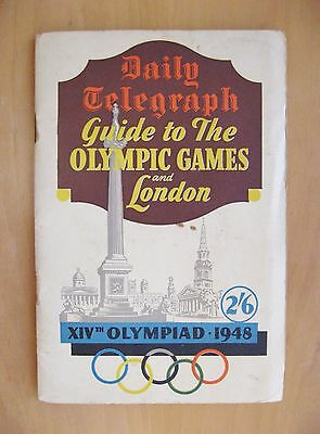 1948 London Olympics Daily Telegraph Guide *VG Condition*