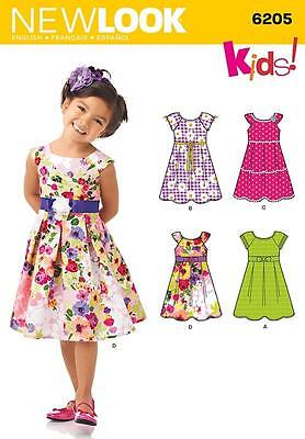 NEW LOOK PATTERN Child's dress with full skirt pleated to bodice SIZE 3 - 8 6205