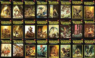 All 24 X Tarzan Ballentine Books + The Lost Adventure & Valley Of Gold