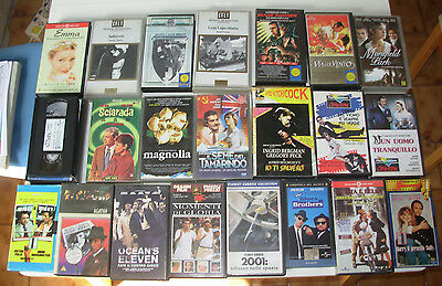 VHS - LOTTO STOCK VIDEOCASSETTE FILM CINEMA, originali, 22 pezzi