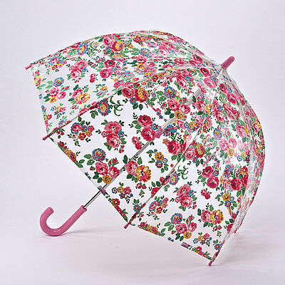 Cath Kidston Children's Funbrella Clear Birdcage Umbrella - Well Rose